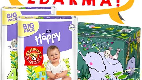 BELLA HAPPY Maxi 4 Big TOY BOX (8-18 kg) 132 ks – jednorázové pleny