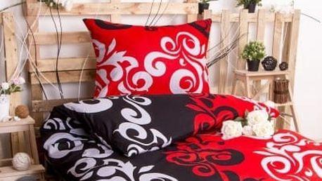 XPOSE ® Prodloužené bavlněné povlečení SABINA EXCLUSIVE - červená 140x220, 70x90