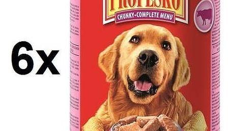 Konzerva Propesko kousky pes hovězí + kuřecí + zvěřina 6 x 1240g