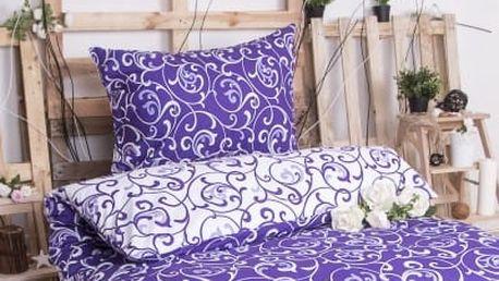 XPOSE ® Bavlněné povlečení na dvě lůžka ELIZABETH DUO - fialová 140x200, 70x90