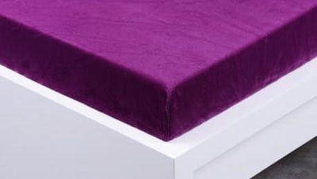 XPOSE ® Prostěradlo mikroflanel Exclusive dvoulůžko - švestková 140x200 cm