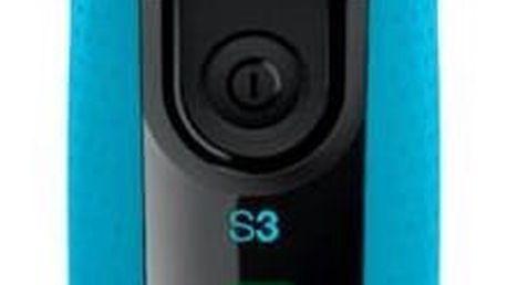 Holicí strojek Braun Series 3-3040s Wet&Dry černý/modrý + Doprava zdarma