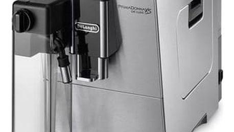 Espresso DeLonghi PrimaDonna ETAM36.365M nerez + dárek 2x Káva zrnková DeLonghi Kimbo Arabica 250g v hodnotě 199 Kč + DOPRAVA ZDARMA