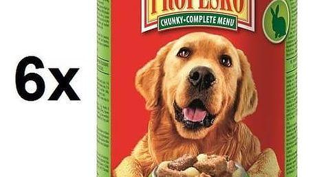Konzerva Propesko kousky pes králík + hovězí + těstoviny 6 x 1240g