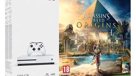 Herní konzole Microsoft 500 GB + Assassin's Creed: Origins; 14 denní Xbox LIVE GOLD 1 měsíční Xbox Game Pass (ZQ9-00234) + DOPRAVA ZDARMA