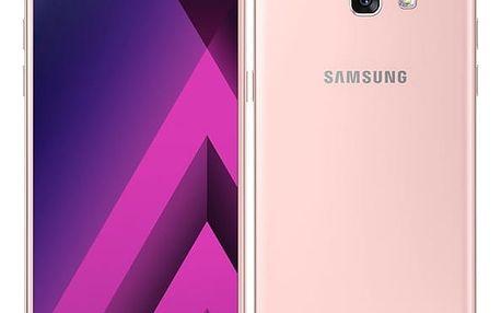 Mobilní telefon Samsung A5 (2017) (SM-A520FZIAETL) růžový Software F-Secure SAFE 6 měsíců pro 3 zařízení v hodnotě 999 Kč + DOPRAVA ZDARMA