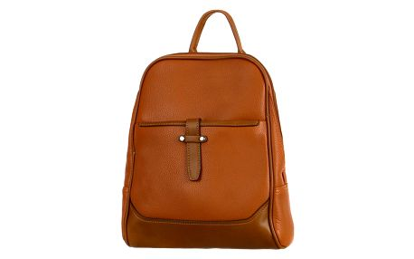 Malý koženkový batoh hnědá