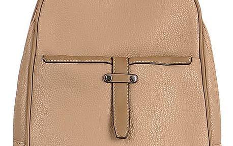 Malý koženkový batoh béžová