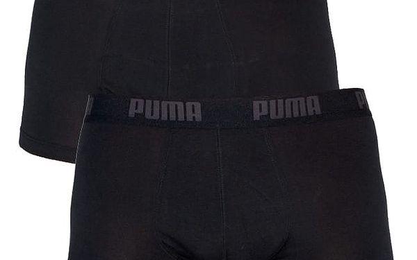 2PACK Pánské Boxerky Puma Black / Black Short M