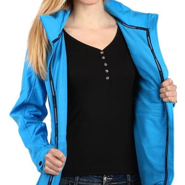 Dámská softshellová bunda na zip modrá2