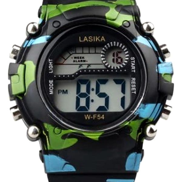 Maskáčové digitální hodinky pro děti