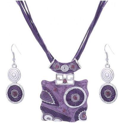 Sada výrazných dámských šperků - 4 barvy