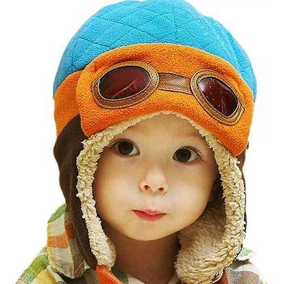 Dětská čepička ála letec - 4 barvy