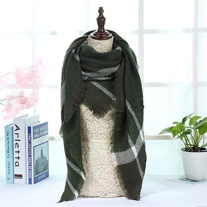 Kostkovaný šátek na krk