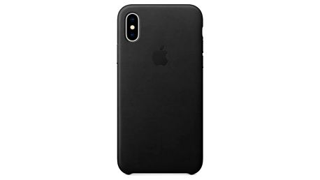 Kryt na mobil Apple Leather Case pro iPhone X (MQTD2ZM/A) černý