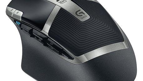 Myš Logitech G602 Wireless (910-003822) černá / laserová / 11 tlačítek / 2500dpi