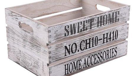 Orion Dřevěná bedýnka Sweet Home, 37 x 27 cm