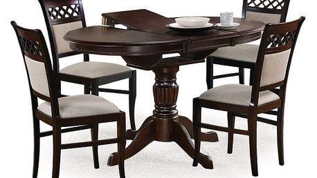 William - Jídelní stůl 90-124x90 cm (tmavý ořech)