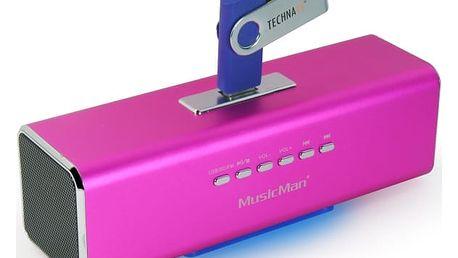 Přenosný reproduktor Technaxx MusicMan (3432) růžový