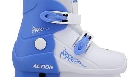 Brusle Acra chlapecké roztahovací plastové, vel. 29 bílé/modré