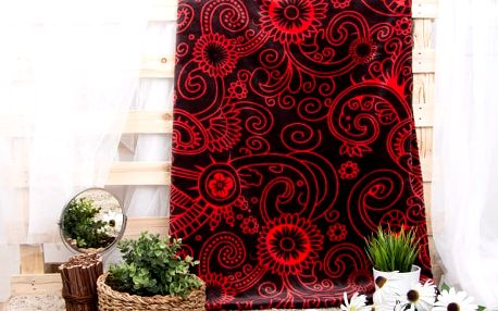 XPOSE ® Deka mikroflanel RUSLANA - červená 200x230 cm