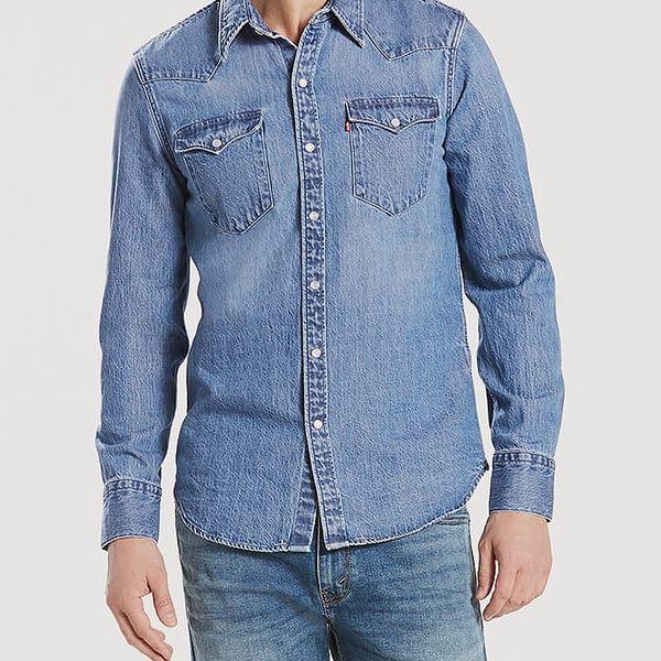 Košile LEVI'S Barstow Western Acid Indigo Modrá