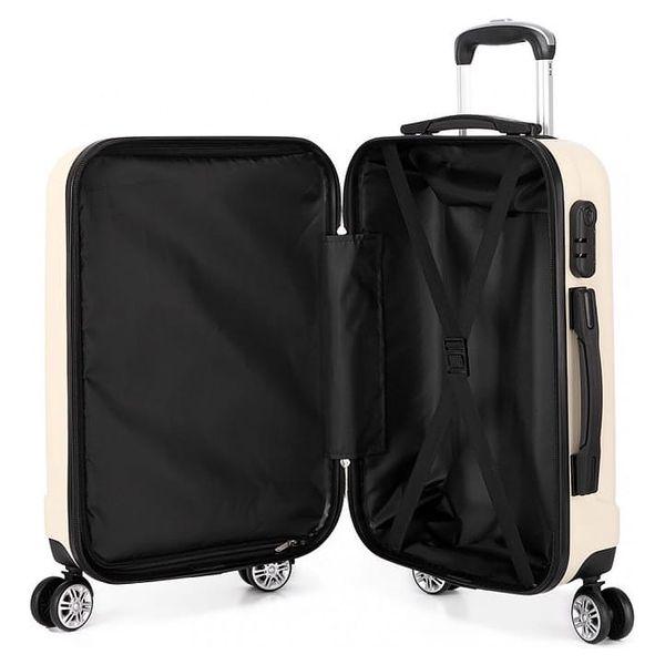 Cestovní střední béžový kufr Trip 17732