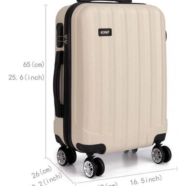 Cestovní střední béžový kufr Trip 17734