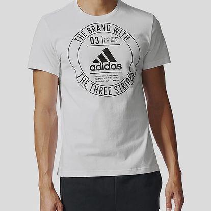 Tričko adidas Performance BADGE Bílá