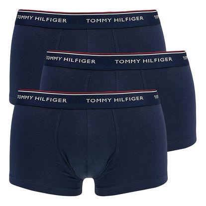 3PACK pánské boxerky Tommy Hilfiger trunk tmavě modré M