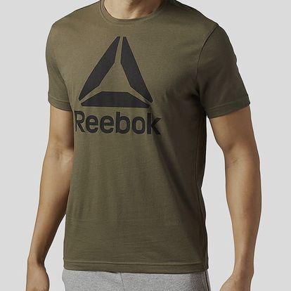 Tričko Reebok STACKED LOGO Zelená