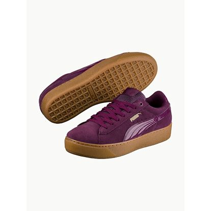 Boty Puma Vikky Platform Dark Purple-Dark Purple Fialová