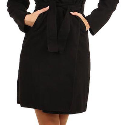 Dámský fleecový kabátek s kapucí černá