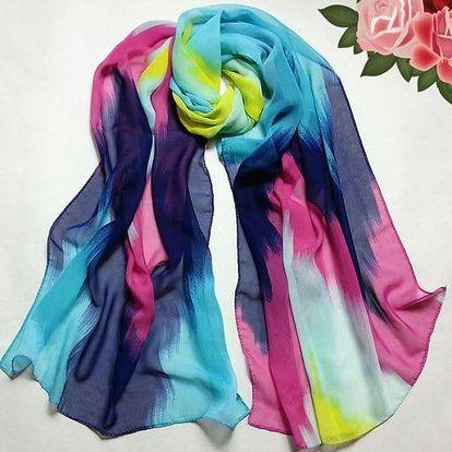 Barevný dámský šátek - 3 varianty