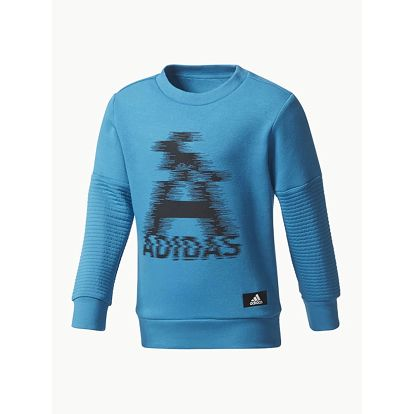 Mikina adidas Performance LB TR SWEAT Modrá