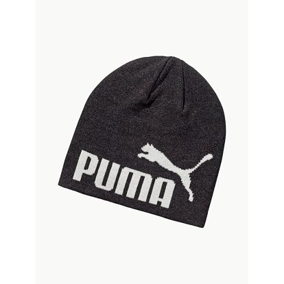 Čepice Puma Ess Big Cat Beanie Dark Gray Heather-No Černá