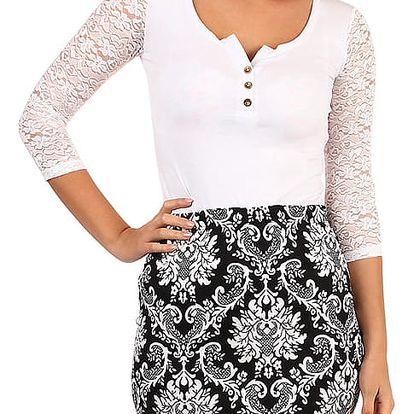 Pouzdrová vzorovaná sukně - i pro plnoštíhlé