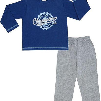 JACKY Pyžamo dvoudílné dlouhé, vel. 86/92 - modrá, kluk