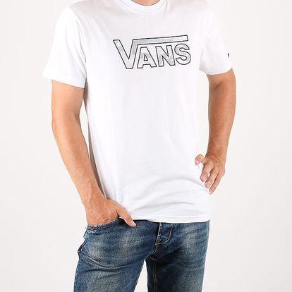 Tričko Vans MN CLASSIC LOGO WHITE/WHITE Bílá