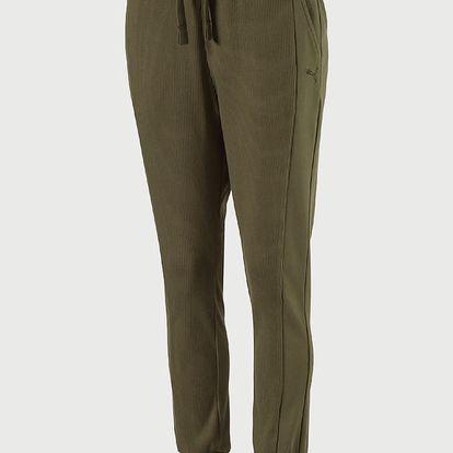 Tepláky Puma Fusion Sweat Pants W Olive Nig Oranžová