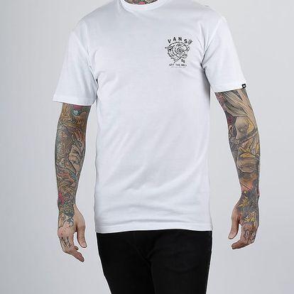 Tričko Vans MN TIED TONGUE White Bílá