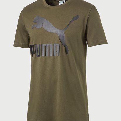 Tričko Puma Archive Logo Tee Print Olive N Zelená