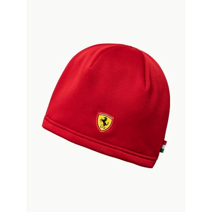 Čepice Puma Ferrari Fanwear Beanie Rosso Corsa Červená