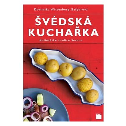 Švédská kuchařka - Kulinářské tradice Severu, červená barva, papír