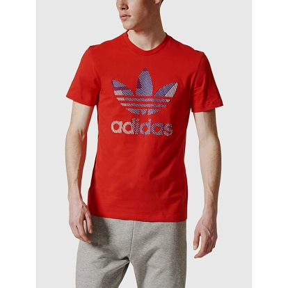 Tričko adidas Originals TREFOIL 1 Červená