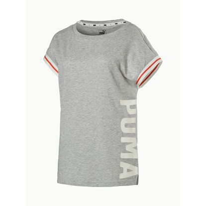 Tričko Puma Athletic Trend Tee W Light Gray Heather Šedá