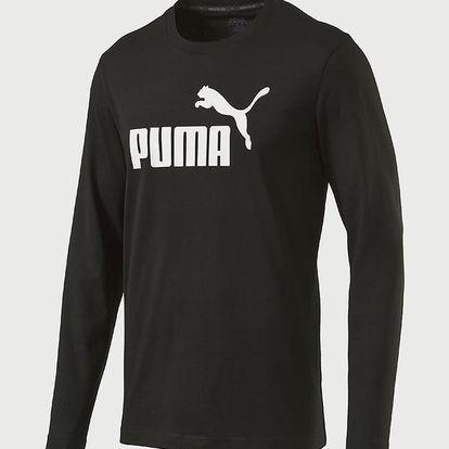 Tričko Puma Ess No.1 Ls Tee Cotton Black Černá