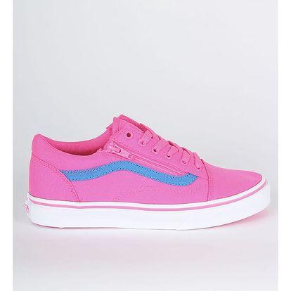 Boty Vans Uy Old Skool Zip (Neon Canvas) Růžová