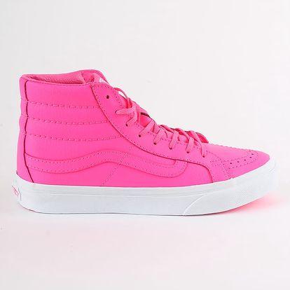 Boty Vans Ua Sk8-Hi Slim (Neon Leathe Růžová