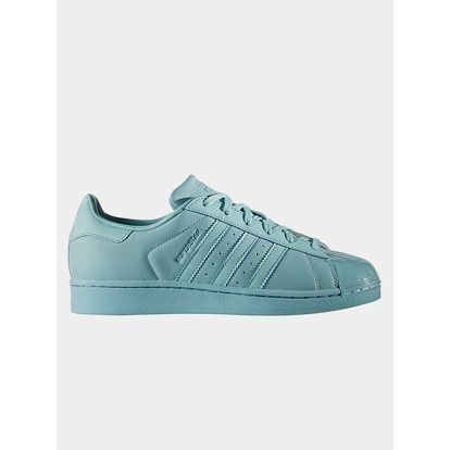 Boty adidas Originals SUPERSTAR GLOSSY TOE W Modrá
